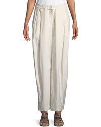 Urban Zen - Sculpted Wide-leg Linen-blend Trousers - Lyst