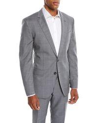 BOSS - Men's Two-tone Windowpane Wool Two-piece Suit - Lyst