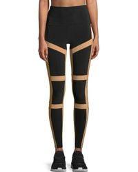 Norma Kamali | Spliced High-waist Contrast Leggings | Lyst