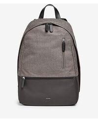 Skagen - Kroyer Leather-trim Twill Backpack - Lyst