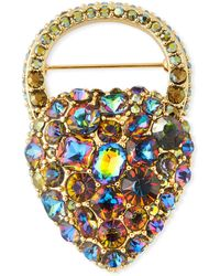 Lulu Frost Nina Rainbow Crystal Brooch - Multicolour