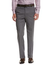 Brioni - Micro-tic Wool Trousers - Lyst