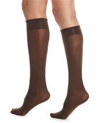 Wolford - Velvet De Luxe 50 Denier Knee-high Socks - Lyst