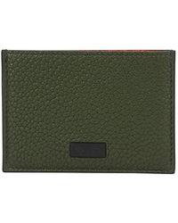 Ferragamo - Men's Firenze Flat Colorblock Leather Card Case - Lyst