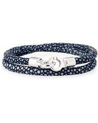 Brace Humanity - Men's Stingray Wrap Bracelet Navy/silver - Lyst