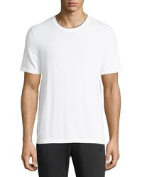 Michael Kors - Cotton T-shirt With Tipping - Lyst