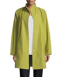 Eileen Fisher - Weather-resistant Snap-front Coat - Lyst