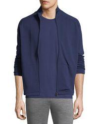 Z Zegna - Full-zip Stand-collar Sweater - Lyst