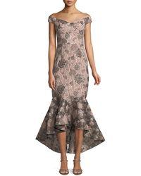 54dee36bd04 David Meister - Soft Metallic Jacquard Mermaid Gown - Lyst