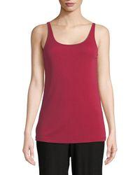 Eileen Fisher - Silk Jersey Long Slim Camisole - Lyst