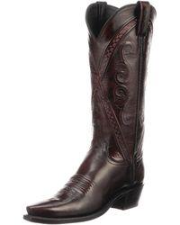 Lucchese - Darlene Crisscross Western Boots - Lyst