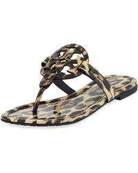 5639703aa8b9fb Tory Burch - Miller Printed Flat Thong Sandals - Lyst