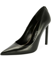 Tom Ford - Pointed-toe 105mm Leather Pump - Lyst