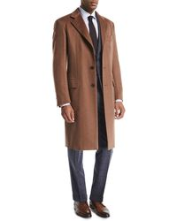 Brioni - Single-breasted Cashmere Top Coat - Lyst