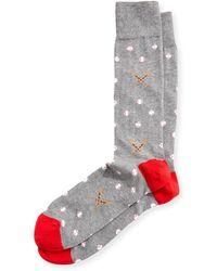 Neiman Marcus - Baseball-print Cotton Socks - Lyst