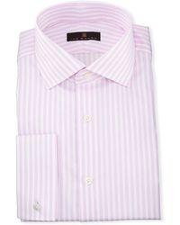 Ike Behar - Gold Label Dobby-stripe Cotton Dress Shirt - Lyst