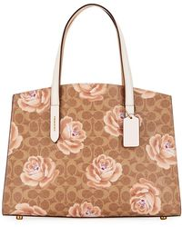 COACH - Charlie Coated Signature Canvas Carryall Shoulder Bag - Lyst