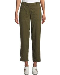 Eileen Fisher - Soft Organic Twill Cropped Taper Pants - Lyst