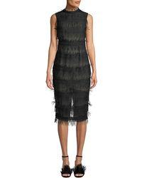 Aijek - Rain Lace Sleeveless Body-con Dress - Lyst