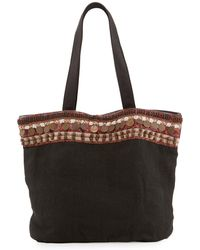 Ále By Alessandra | Cleopatra Beaded & Embellished Linen Tote Bag | Lyst