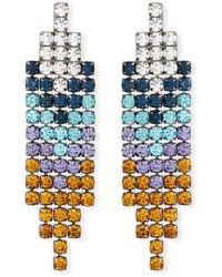 Lulu Frost Fortune Fringe Crystal Earrings - Blue