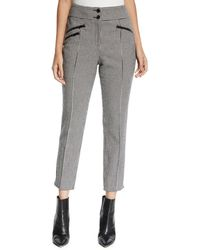 Veronica Beard Felton High-rise Cropped Houndstooth Pants