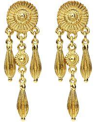 Ben-Amun - Bohemian Flower Dangle Earrings - Lyst