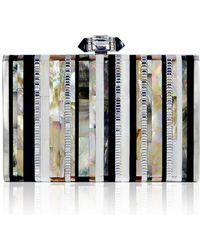 Judith Leiber - Tall Slender Shell Stripes Clutch Bag - Lyst