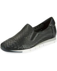 Sesto Meucci - Caria Woven Perforated Napa Sneakers - Lyst