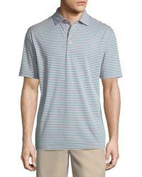 Peter Millar - Tygra Striped Jersey Polo Shirt - Lyst