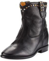 3494e57c587b Isabel Marant - Cluster Hidden-wedge Western Boots - Lyst