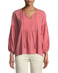 The Great - Paneled Tunic Peasant Top - Lyst