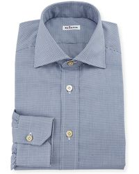 Kiton - Men's Micro-check Dress Shirt - Lyst