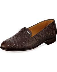 Gravati - Alligator Slip-on Loafers - Lyst