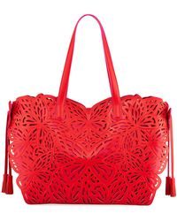 Sophia Webster - Liara Laser-cut Leather Butterfly Tote Bag - Lyst