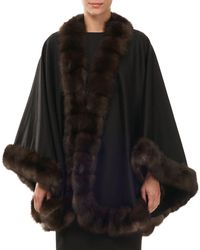 Gorski - Cashmere Cape With Sable Fur Trim - Lyst