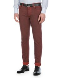 Isaia - Saturated-wash Slim-leg Jeans - Lyst