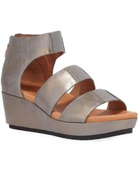 Gentle Souls Milena Metallic Demi-wedge Sandals - Brown