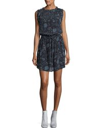 Velvet - Raelyn Round-neck Floral-print Dress - Lyst