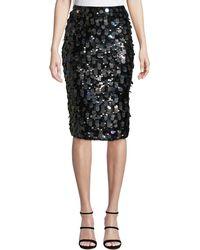 Parker - Glenda Sequined Pencil Skirt - Lyst