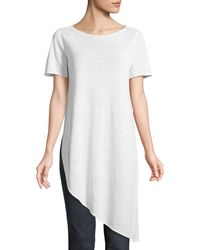 Eileen Fisher - Organic Linen Knit Asymmetric Tunic - Lyst