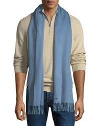 b978d6cbd740 Lyst - Loro Piana Le Rosey Cashmere-silk Scarf in Blue for Men