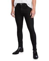 7 For All Mankind Men's Adrien No-fade Skinny Jeans - Black