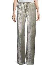 XCVI - Josephine Velour Easy Pants - Lyst