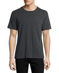 Billy Reid | Washed Pocket Crewneck T-shirt | Lyst
