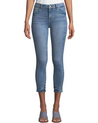 DL1961 - Florence Instasculpt Cropped Skinny Jeans - Lyst