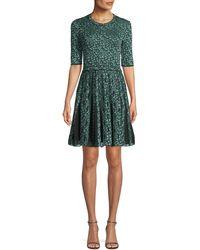 M Missoni - Geometric Devore Half-sleeve Dress - Lyst