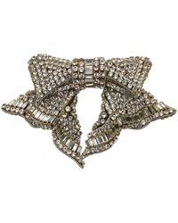 Mignonne Gavigan Small Lexy Bow Brooch - Metallic