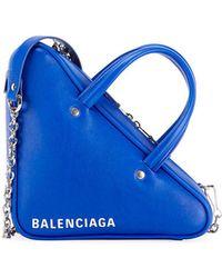 Balenciaga - Triangle Xs Calfskin Duffel Bag - Lyst