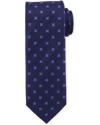 Eton of Sweden - Floral-pattern Open-ground Silk Tie - Lyst